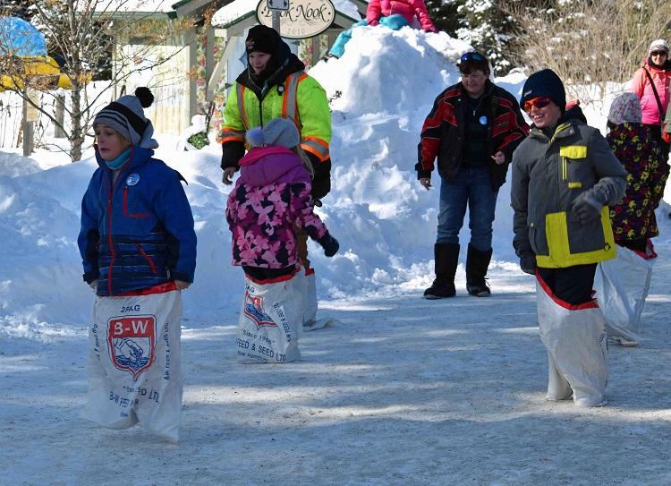Kids and potato sacks make for instant fun (Cheyenne Wood)