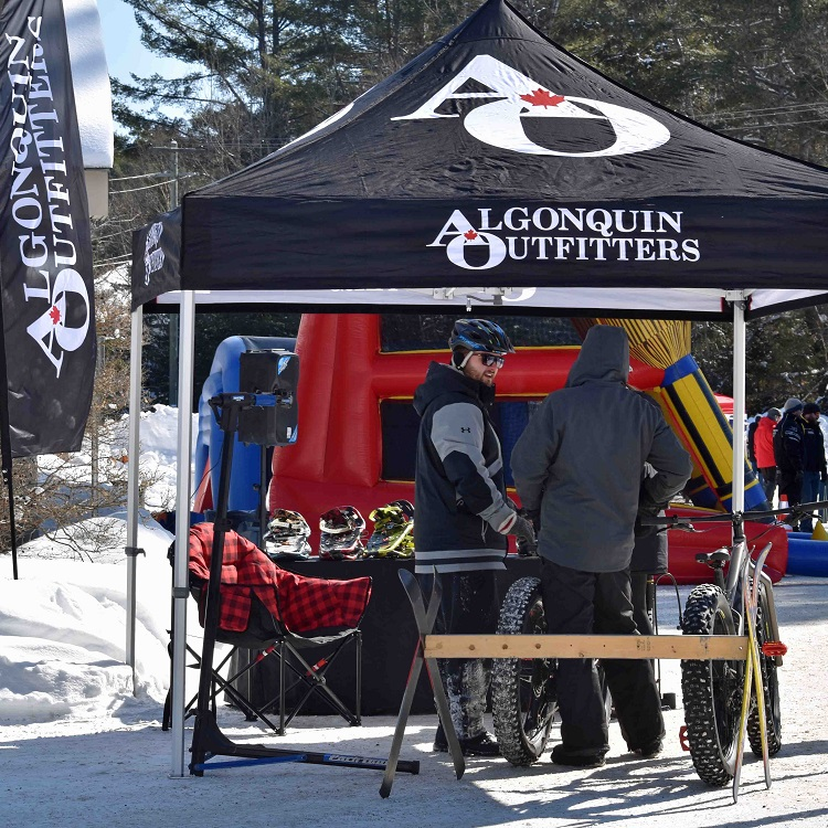 Algonquin Outfitters brought fatbikes and snowshoes for carnival-goers to enjoy (Cheyenne Wood)