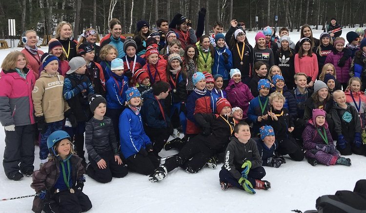 One hundred and ten students from 13 Muskoka schools participated in the Arrowhead Elementary School Race (Brenda Liddle)