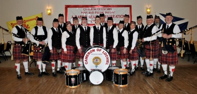 Cameron of Lochiel Pipes and Drum band (supplied)