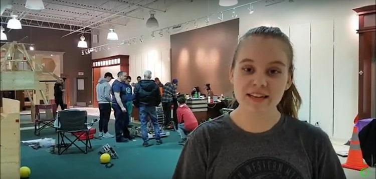 Hoya Robotics co-captain Megan Cameron