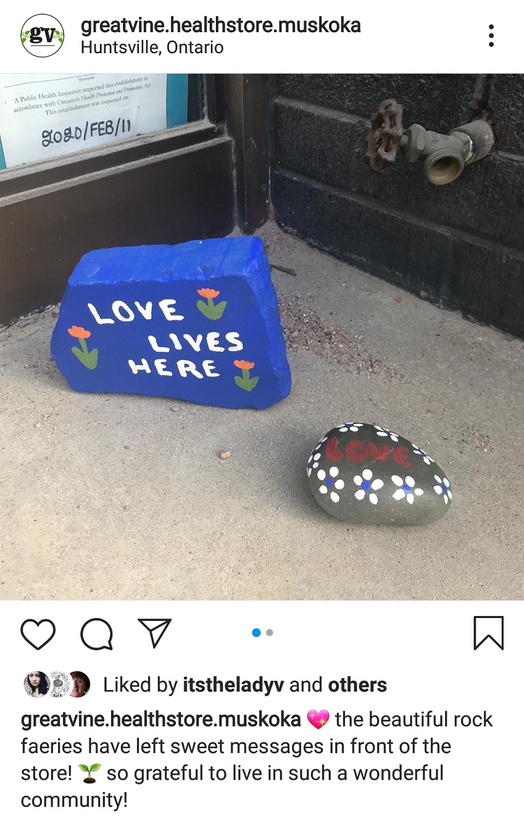 A kind person (or persons) left these painted rocks at The Great Vine (The Great Vine / Instagram)