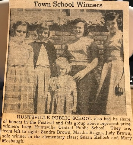 Some early festival winners (Courtesy of Mary Mosbaugh Spence-Thomas)