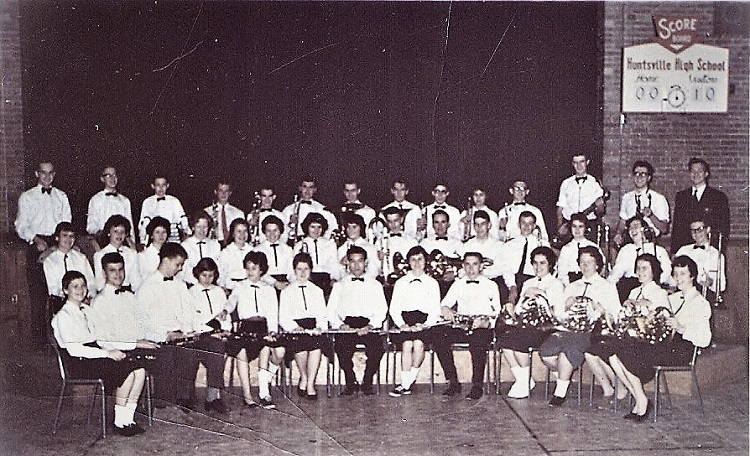 Huntsville High School band, 1959 (Courtesy of Martha Briggs Watson)