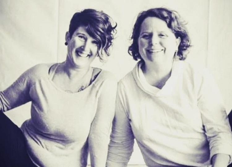 Wendy Martin (left) of Sacred Breath Yoga and Allie Chisholm-Smith of Ahimsa Yoga (Celine McKay)