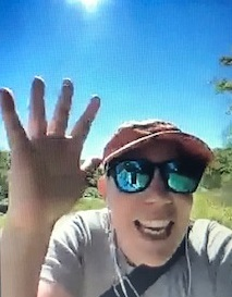 CLH executive director Suzanne Willett gives participants a virtual high five