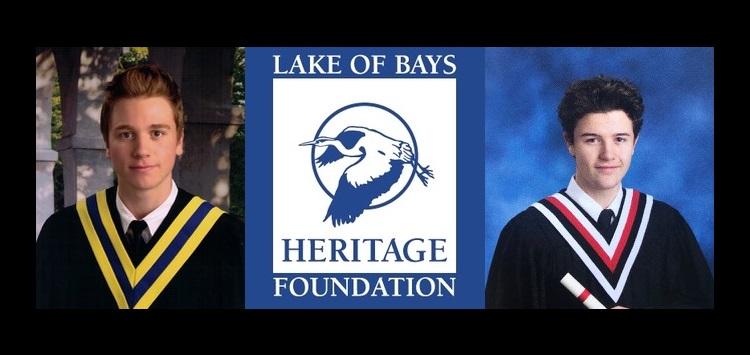 Nolan Parsons and Sam Veitch received LOB Heritage Foundation bursaries (supplied)