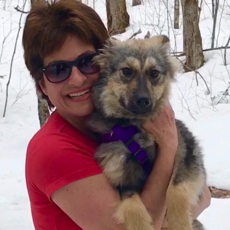 Hazel, with Wendy McRae, was adopted from Paws of the North (supplied)