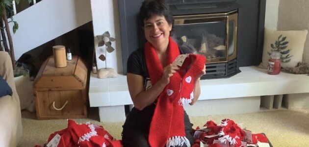 Wendy McRae began Red Scarf for Rescues to raise funds and awareness for local animal rescue groups (supplied)
