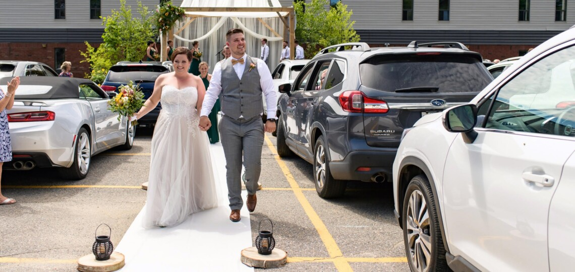 Dana and Colin Greenleaf created a wedding day to remember. (Kelly Holinshead)