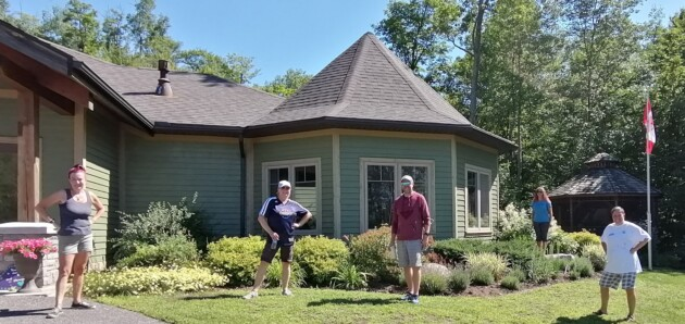 Rotarians gave Algonquin Grace residential hospice a facelift this weekend (supplied)
