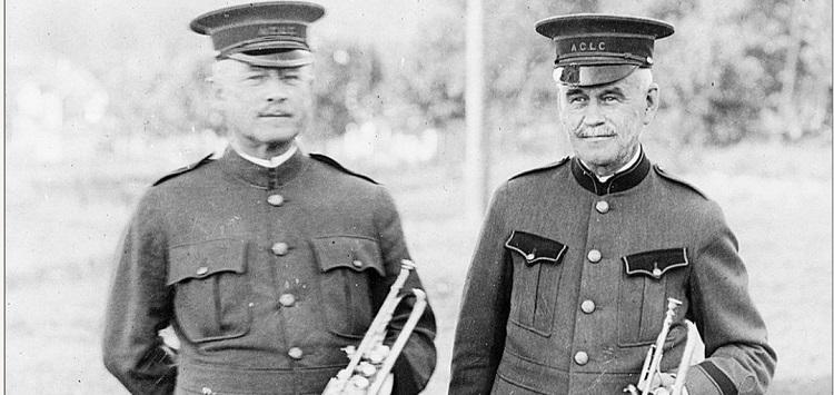Herbert L. Clarke (left) and C.O. Shaw (Muskoka Digital Archives) cropped