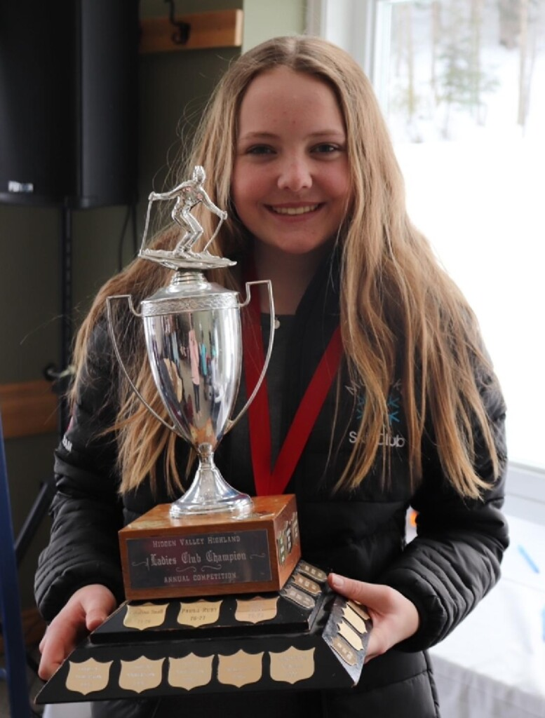 At 13, Abby Costello was the youngest racer to win the Club Championship at the Muskoka Ski Club. (supplied)