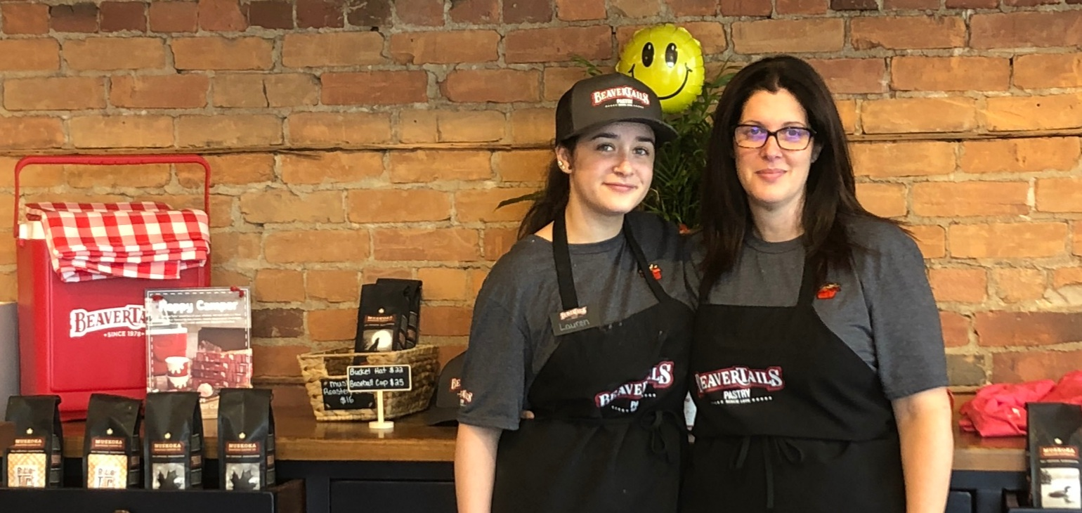 Michelle Hill (right), owner of the BeaverTails in Huntsville, with her daughter Lauren Hill (Sydney Allan)