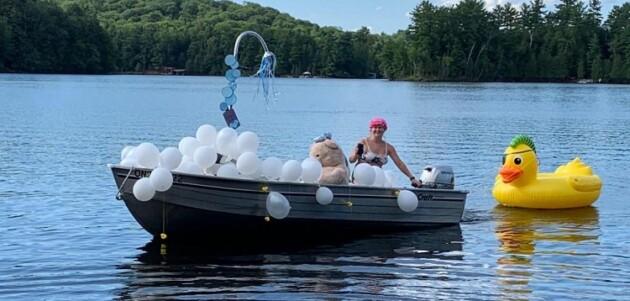 Cutest float winner in the LWRA boat parade (supplied)