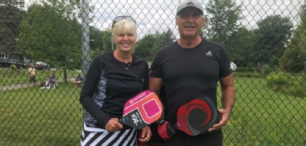 Lorna (left) and Jim Popofski are passionate about pickleball (supplied)