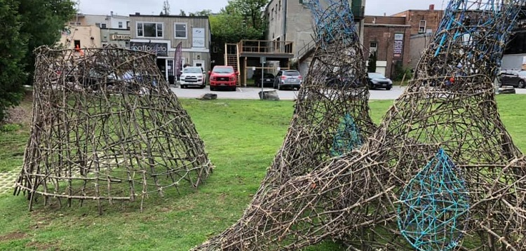 The REACH sculpture in River Mill Park has been vandalized (Huntsville Festival of the Arts / Facebook)