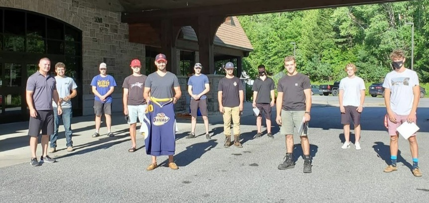 The Otters hosted an outdoor meet-the-coach night on August 11 (Huntsville Otters)