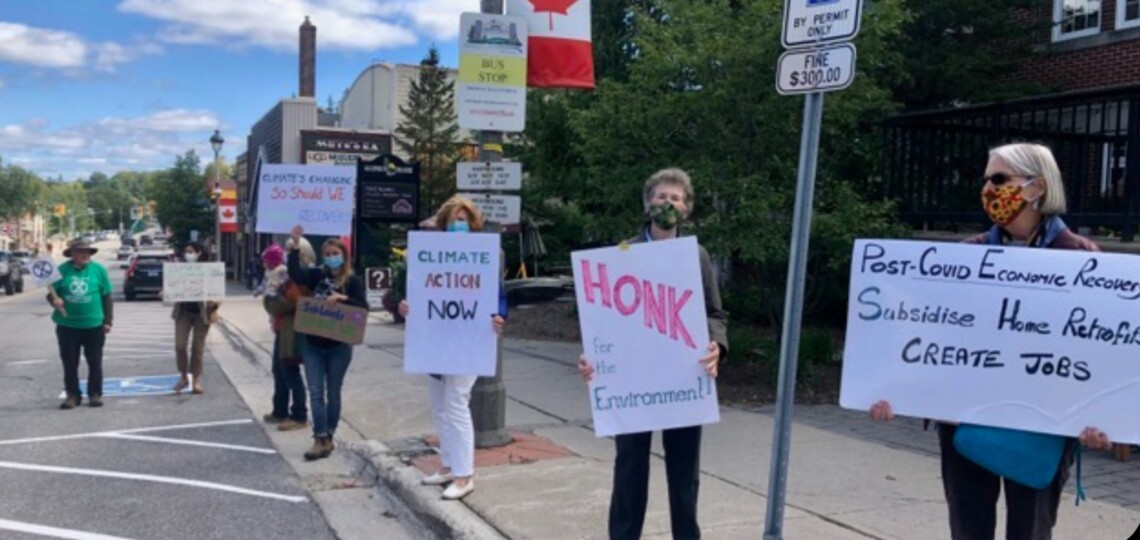 A recent Huntsville Fridays for Future strike (photo courtesy of Lesley Hastie)