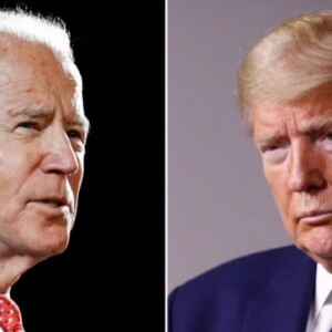 Former Vice President Joe Biden (left) and U.S. President Donald Trump (Associated Press photos)