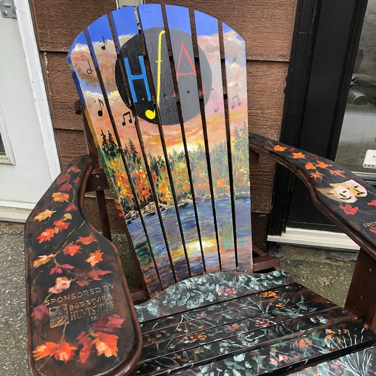The HFA's Muskoka chair was painted by Gord Duncan (Sydney Allan)