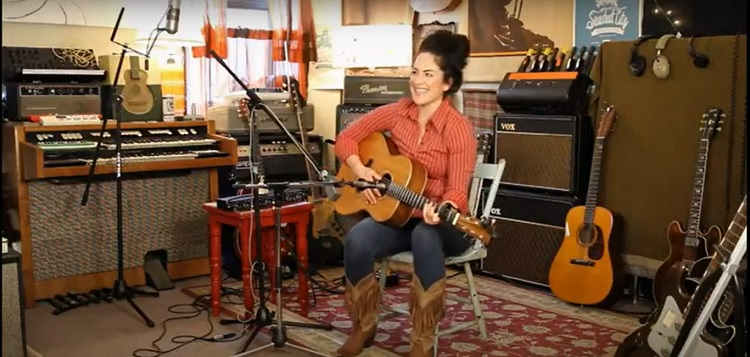 Musician Christina Hutt in her Fifteen Shades music video (Christina Hutt / YouTube)