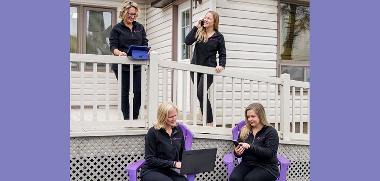 Muskoka Seniors staff (clockwise from back left) Top: Angela Barager, Danica Armour, Jenn Pfrimmer, and Sarah Caswell (supplied)