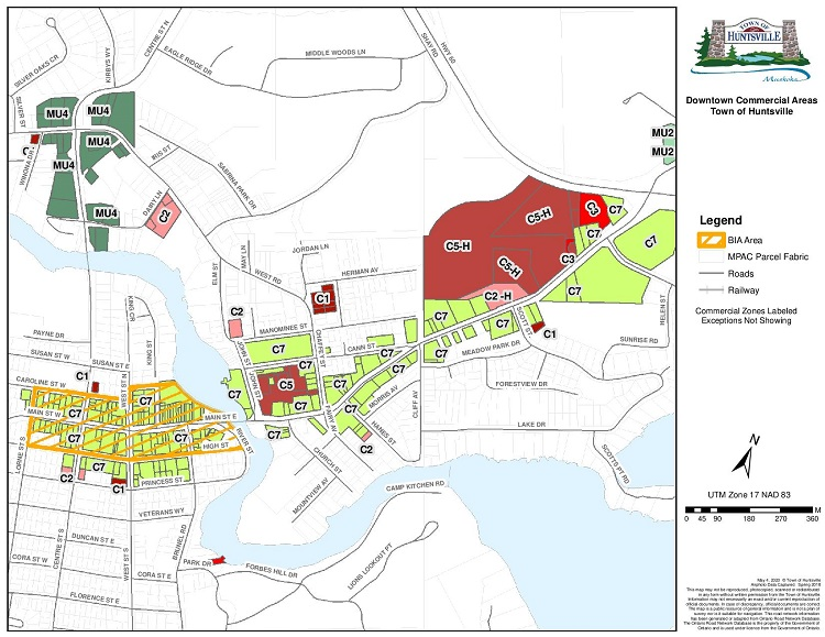 Businesses in Huntsville's central shopping area can apply for a Digital Main Street grant (supplied)