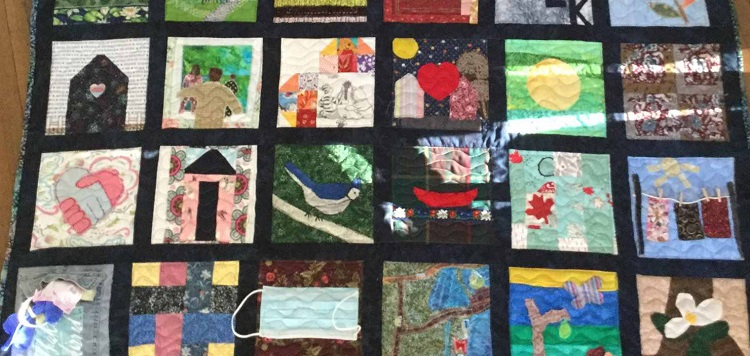 You can see the isolation quilt this month as part of a Huntsville Art Society members' show (Mary Spring)