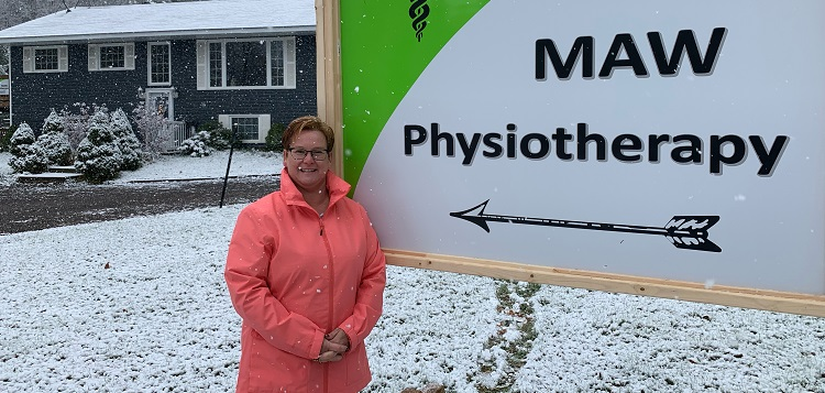 The COVID-19 pandemic forced Melanie Maw to establish her own physiotherapy clinic (supplied)