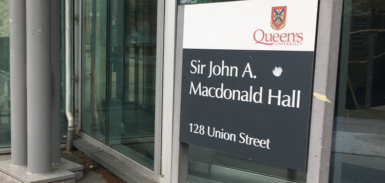 Sir John A. Macdonald Hall at Queen's University in Kingston is to be renamed