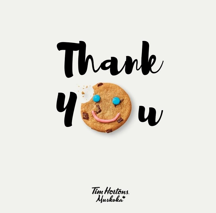 Tim Hortons Muskoka posted this thanks to their Instagram feed, noting that they raised $12,646 for The Table in Huntsville and $9,349 for Muskoka Family Focus in Bracebridge (@timhortonsmuskoka / Instagram)