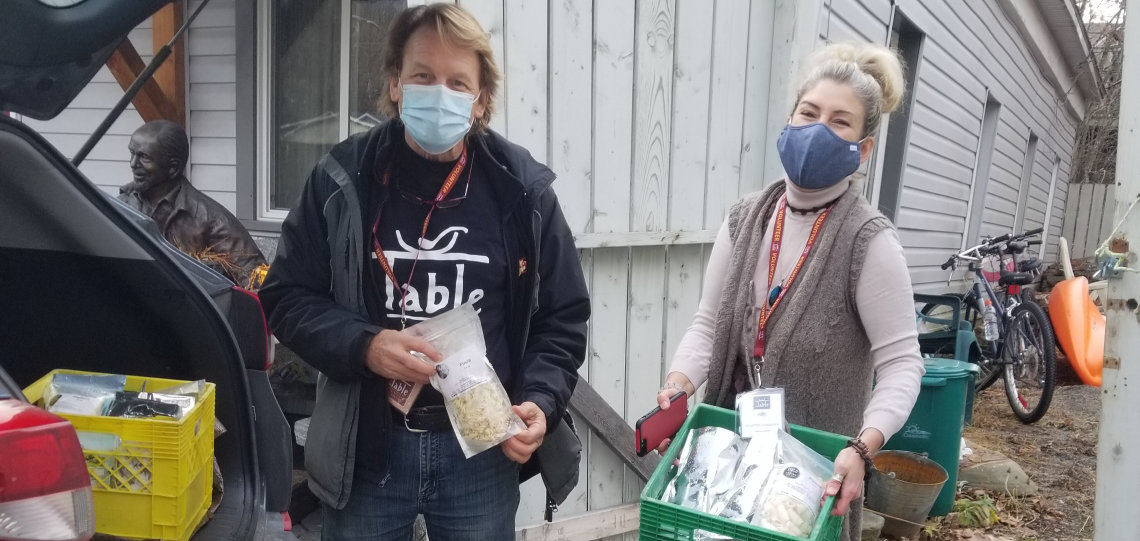 The Table Food Rescue volunteers Keith Uhrig (left) and Amy Snow (supplied)
