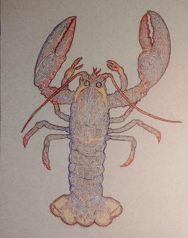 """Natasha Banks has used """"Lobster"""" to bring attention to the lobster fishery dispute in Nova Scotia (the.waitressing.artist.club / Instagram)"""