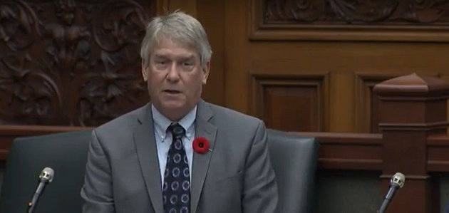 MPP Norm Miller speaks about Remembrance Day in the Ontario Legislature