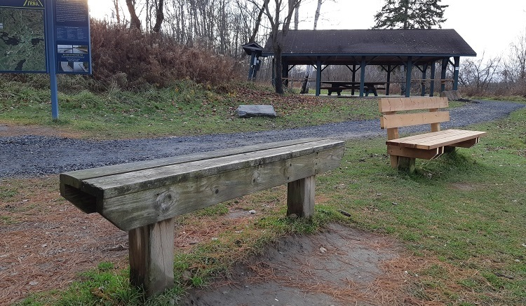 Proceeds from the auction support Rotary's community initiatives, like installing new benches (above right) along Hunters Bay Trail (supplied)