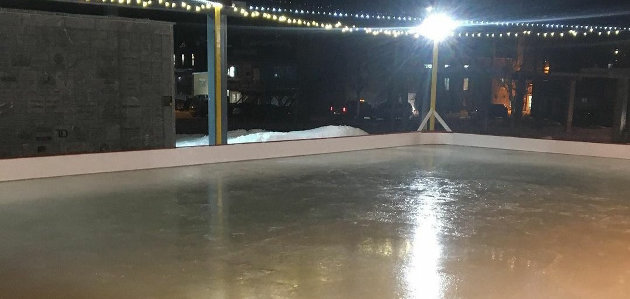 The River Mill Park skating rink, pictured here in 2019, has been nixed this year due to COVID (@downtownhuntsville/Instagram)
