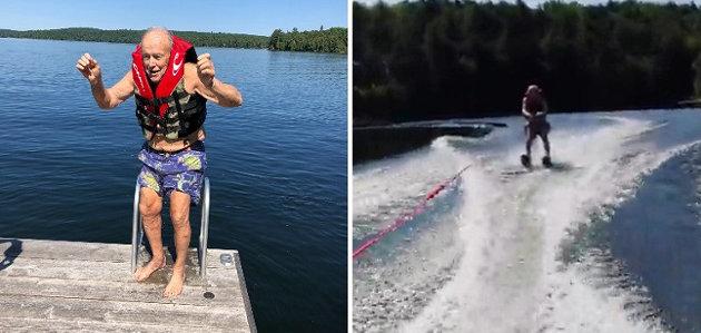Bob Hutcheson's Guinness World Record attempt was on July 9, 2019 on Bella Lake (guinnessworldrecords.com)