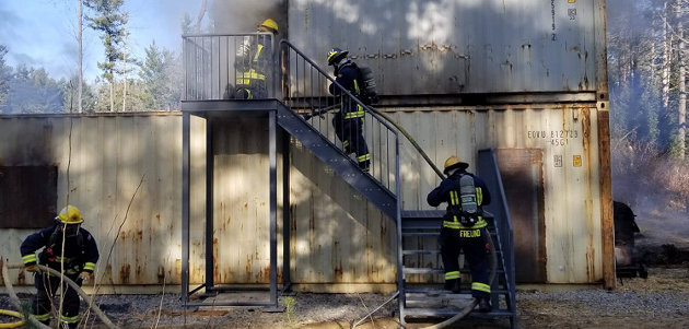 Huntsville Lake of Bays Fire Department held a live fire training day in November (supplied)