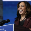 United States Vice-President-elect Kamala Harris speaks on Nov. 24, 2020, in Wilmington, Del. (AP Photo/Carolyn Kaster)