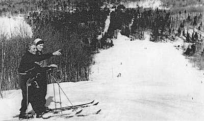 Top of the World ski hill at Limberlost (Muskoka Digital Archives)