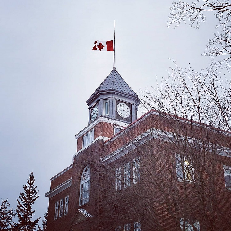 Town flags were at half-mast on Dec. 4 in honour of Ray Porter