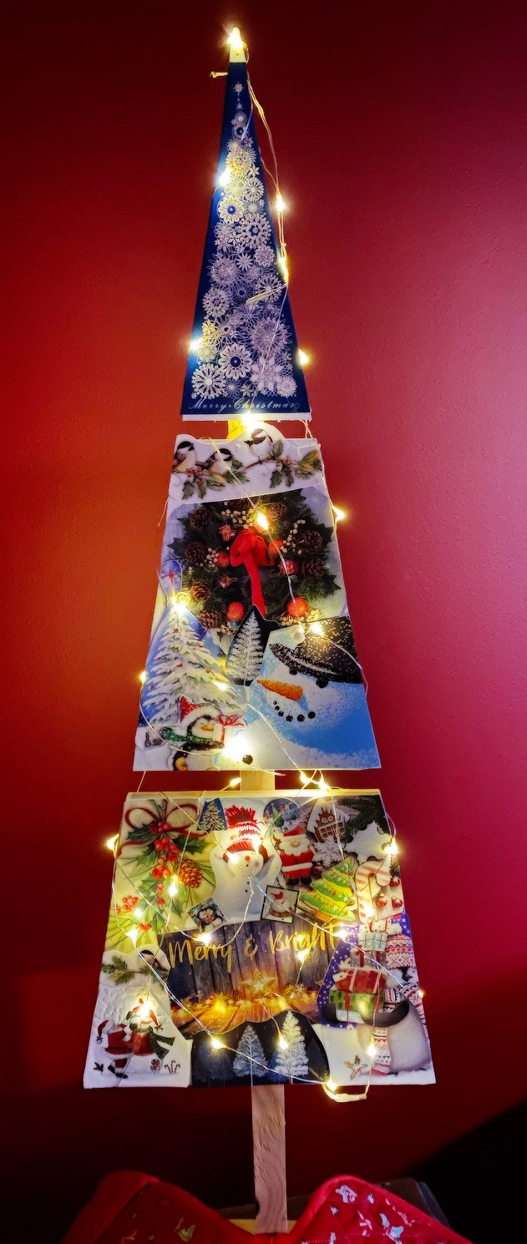 Jenny Kirkpatrick and her granddaughter Harper decorated their wooden tree (supplied)
