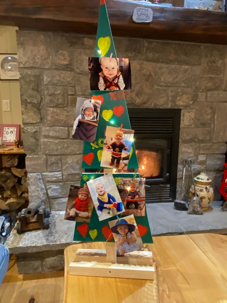 Mary Spring included photographs of her grandsons one which lives in Calgary and will not be in Huntsville for Christmas (supplied)