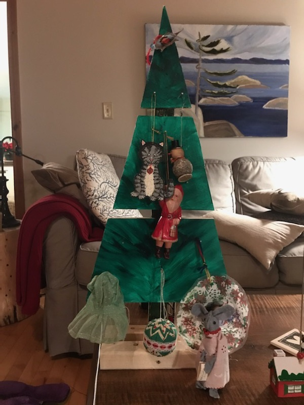 Terri Howell and Kim DeLagran's tree is called Memories. This tree includes an ornament that is over 90 years-old as well as a hand sewn dress from Terri's great grandmother (supplied)