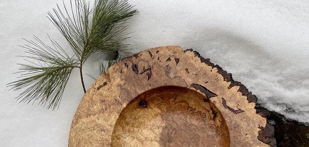 Big Leaf Maple Burl Platter by Brian Markham