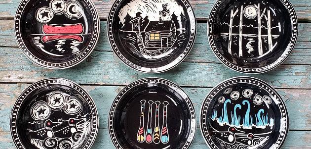 Sgraffito bowls by Karen Gray (supplied)