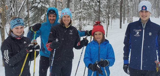 The Richter family participated in the Cross Country Ski Ontario KM Challenge (supplied)